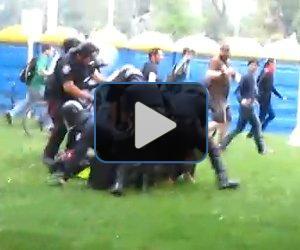 VIDEO: Protester tackled at G20
