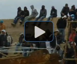 VIDEO: Refugees flee to Italy