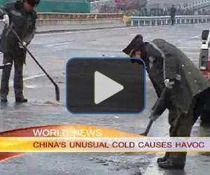 Cold causes traffic backups in China