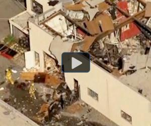Watch: Local news report on explosion