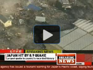 Watch: Earthquake, Tsunami Hit Japan