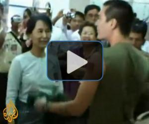 Suu Kyi reunited with son
